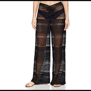 Kenneth Cole black lace swimsuit cover-up pants